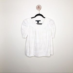 Marc by Marc Jacobs White Short Sleeve Blouse